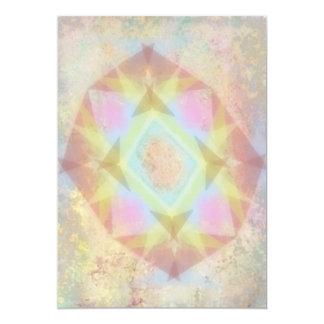 Kaléidoscope déformé - résumé de couleur claire carton d'invitation  12,7 cm x 17,78 cm