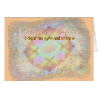 Kaléidoscope déformé - tu me manque cartes de vœux