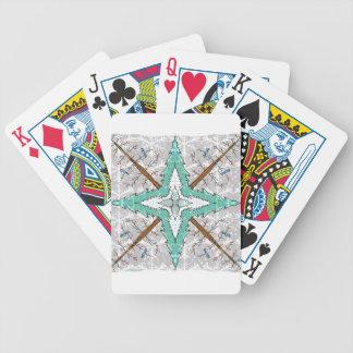Kaléidoscope des arbres d'hiver jeu de cartes