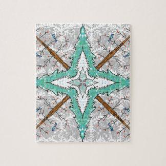 Kaléidoscope des arbres d'hiver puzzle