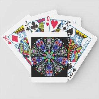 Kaléidoscope des crânes jeux de cartes