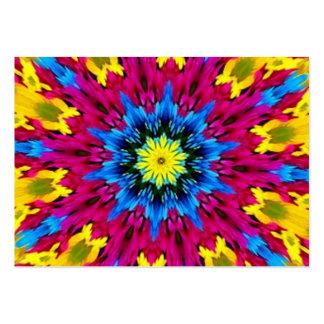 Kaléidoscope extraordinaire d'éclat de couleur modèles de cartes de visite