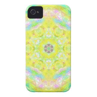 Kaléidoscope lumineux vibrant de pastel de chaux coque Case-Mate iPhone 4