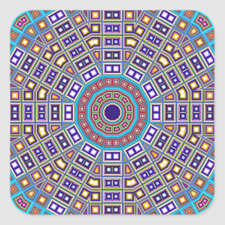 Kaléidoscope marocain de mosaïque sticker carré