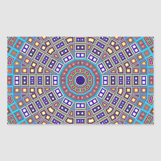 Kaléidoscope marocain de mosaïque sticker rectangulaire