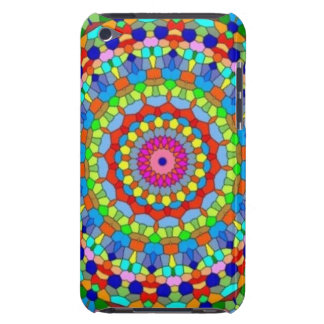 Kaléidoscope multicolore en verre souillé coques iPod touch