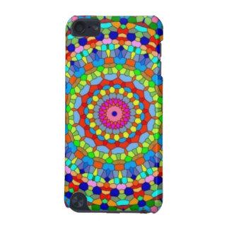 Kaléidoscope multicolore en verre souillé