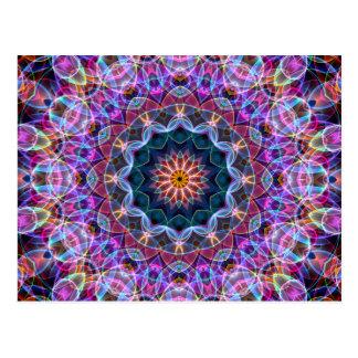 Kaléidoscope pourpre de Lotus Carte Postale