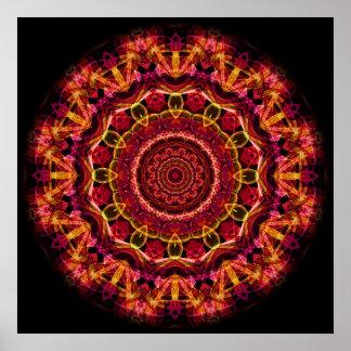 Kaléidoscope renversant de chaos affiche