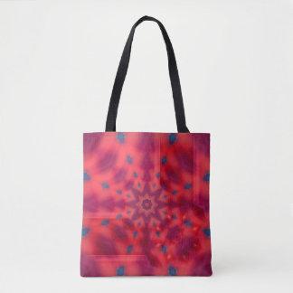 Kaléidoscope rouge de mandala sac