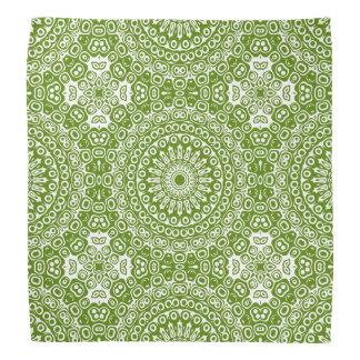 Kaléidoscope vert de conception de mandala bandana
