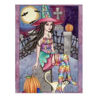 Kamaria - carte postale de sirène d'arc-en-ciel
