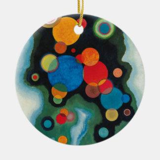 Kandinsky a approfondi l'huile abstraite ornement rond en céramique