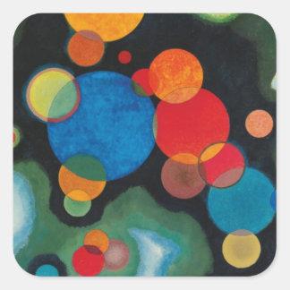 Kandinsky a approfondi l'huile abstraite sticker carré