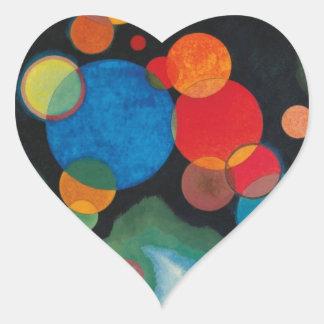 Kandinsky a approfondi l'huile abstraite sticker cœur