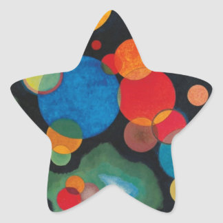 Kandinsky a approfondi l'huile abstraite sticker étoile