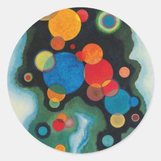 Kandinsky a approfondi l'huile abstraite sticker rond