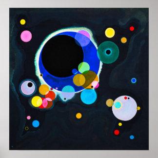 Kandinsky affiche de plusieurs cercles