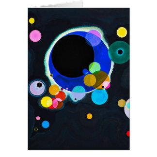 Kandinsky carte de voeux de plusieurs cercles