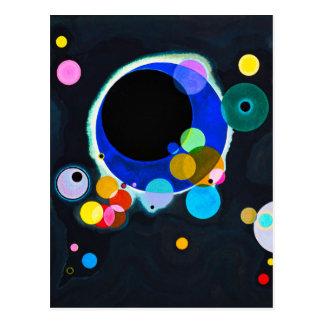 Kandinsky carte postale de plusieurs cercles