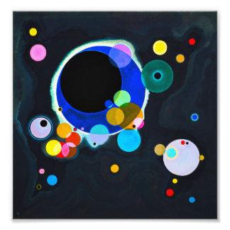 Posters Cercles Kandinsky Cercles Kandinsky Affiches Art Cercles Kandinsky Toiles Cercles