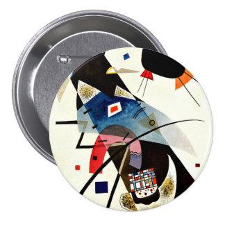 Kandinsky - deux taches noires badge