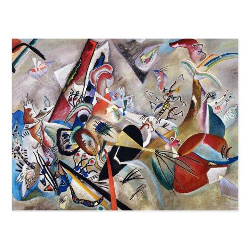 Kandinsky en carte postale grise