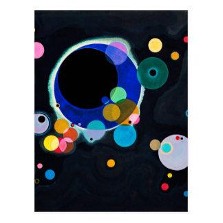 Kandinsky illustration de plusieurs cercles carte postale