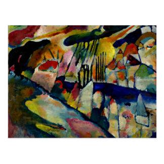 Kandinsky - paysage avec la pluie carte postale