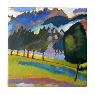 Kandinsky - paysage avec Rolling Hills Petit Carreau Carré