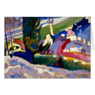 Kandinsky - paysage d'hiver avec l'église cartes
