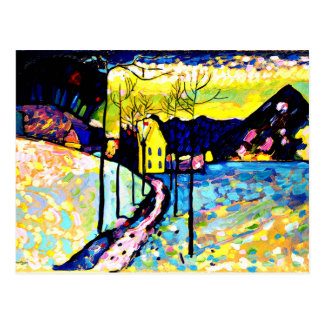 Kandinsky - paysage d'hiver cartes postales