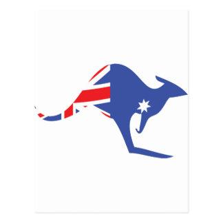 kangourou australien carte postale