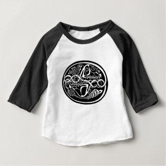 Kangourou celtique de noeud noir et blanc t-shirt pour bébé
