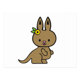 Kangourou de Kittie Carte Postale