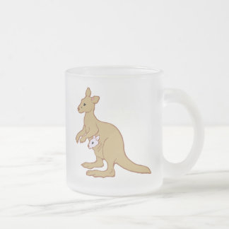 KANGOUROU de zoo Mug En Verre Givré
