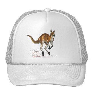 kangourou rouge casquettes de camionneur