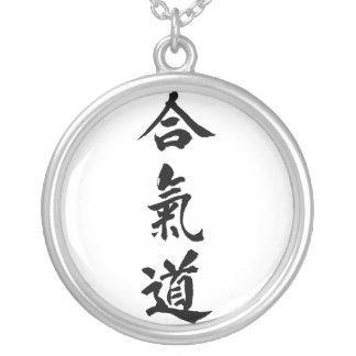 Kanji d'Aikido Pendentif Rond