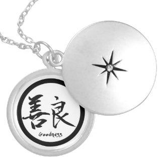 Kanji japonais noir rond du pendentif   pour la