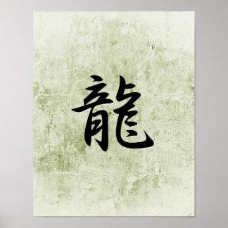 Kanji japonais pour le dragon - Ryuu Poster