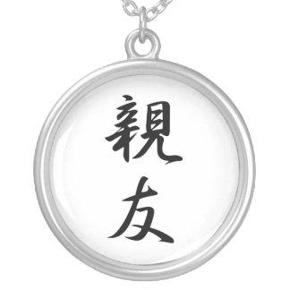 Kanji japonais pour le meilleur ami - Shinyuu Pendentif Rond