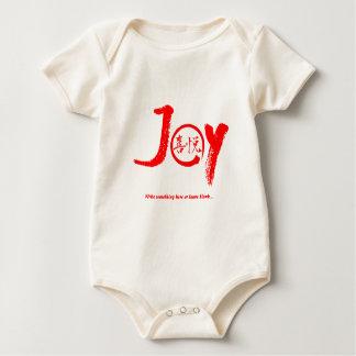 """Kanji rouge de joie à l'intérieur de cercle """"joie"""" body"""