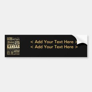 Kansas City d'art de typographie d'état du Missour Autocollant De Voiture