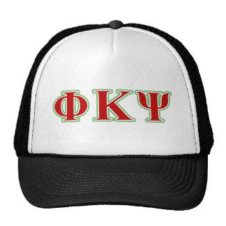 Kappa lettres rouges et vertes de livre par pouce casquettes de camionneur