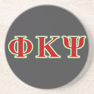 Kappa lettres rouges et vertes de livre par pouce dessous de verres