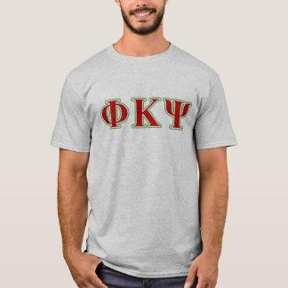 Kappa lettres rouges et vertes de livre par pouce t-shirt