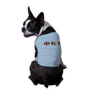Kappa lettres rouges et vertes de livre par pouce t-shirt pour chien