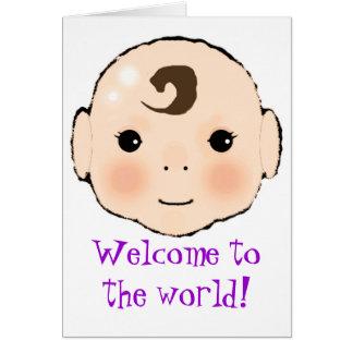 """Kappuke-ki """"accueil nouvelle carte de bébé à"""