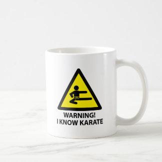 Karaté d'avertissement mug