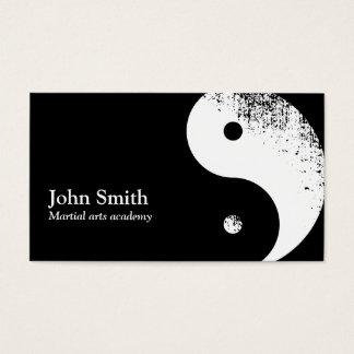 Karaté de Yin Yang d'arts martiaux Cartes De Visite